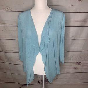 Emaline • drape front open cardigan small